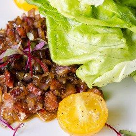 Salade tiède de chèvre